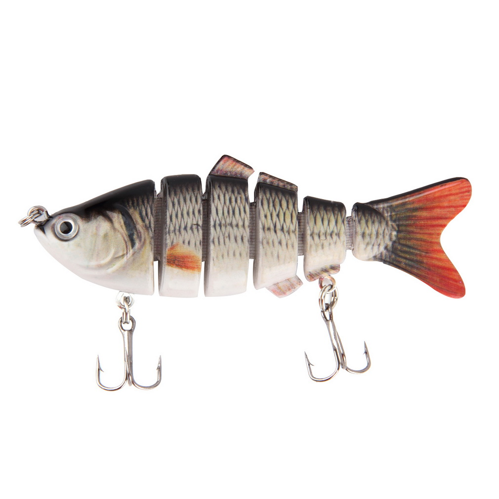Multi-jointed Simulation Fishing Lures Crank Bait Sink Hook Tackle New