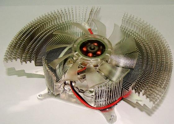 Multi Platform Graphic Card Aluminum Heatsink Cooling Fan