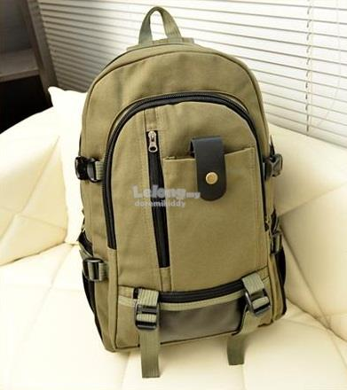 Multi Pocket Hiking Canvas Backpack