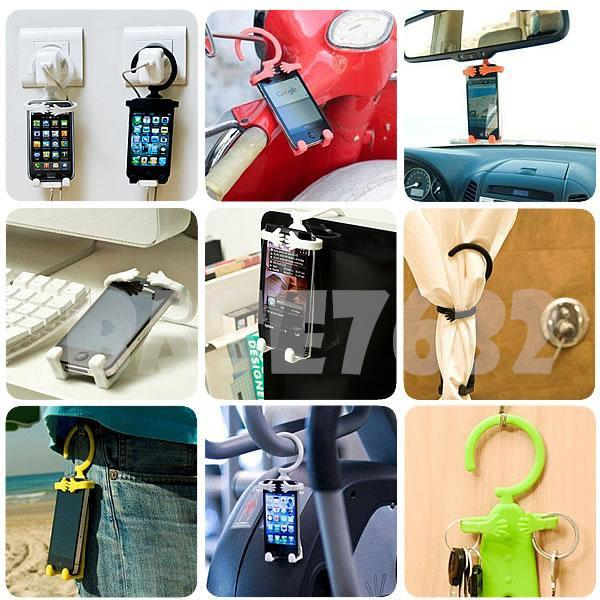 Multifunction Multipurpose Flexible Hanger Hang Man Phone PDA Holder