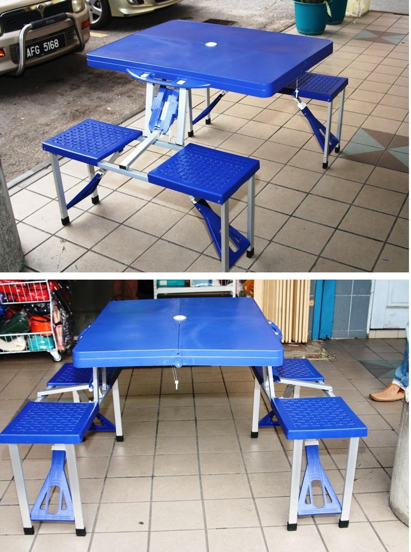 Multifunctional Foldable Table With Seats / Portable Picnic Table