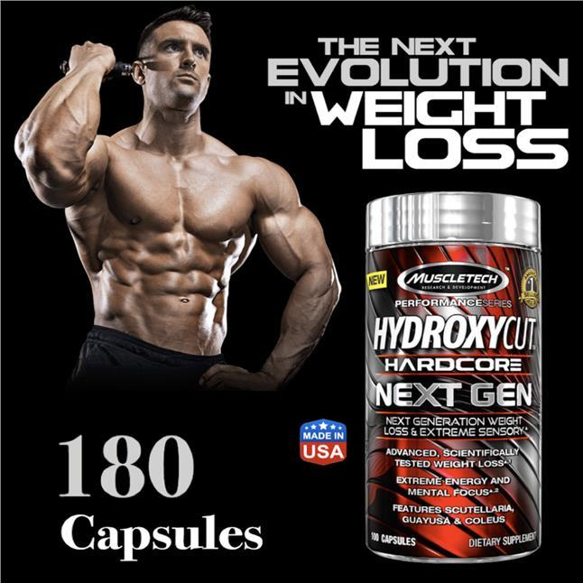 Muscletech Hydroxycut, Hardcore Next Gen, Weight Loss, 180 Caps (Whey)