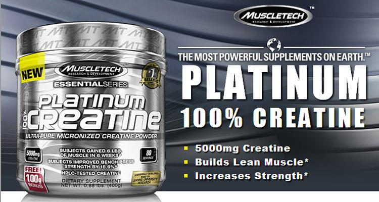 Muscletech PLatinum Creatine 80 serving(Tenaga, Muscle Size Otot)