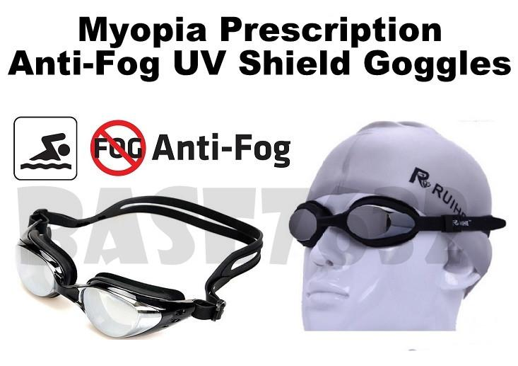 Myopia Prescription Power Coating UV Swimming Goggles Goggle