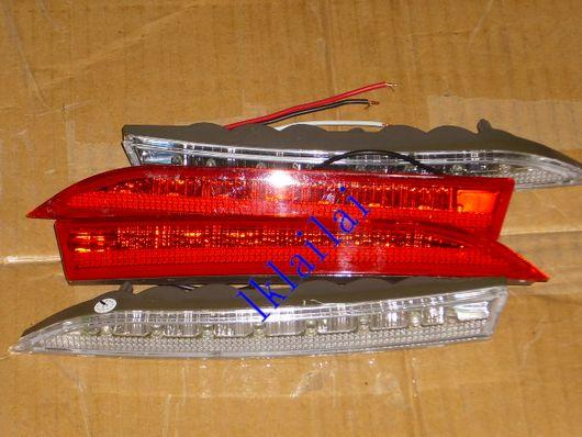 MYVI REAR BUMPER REFLECTIVE with LED Light Lamp [White/Red Lens]