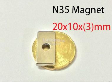 N35 Neodymium strong magnet DIY 20x10x(3)mm (5pcs)