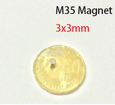 N35 Neodymium strong magnet DIY 3x3mm (5pcs)