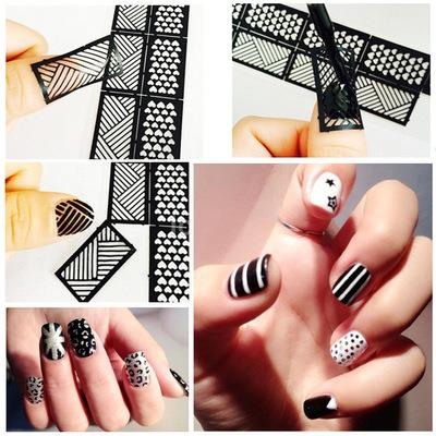 Nail Art Stencil Hollow Sticker