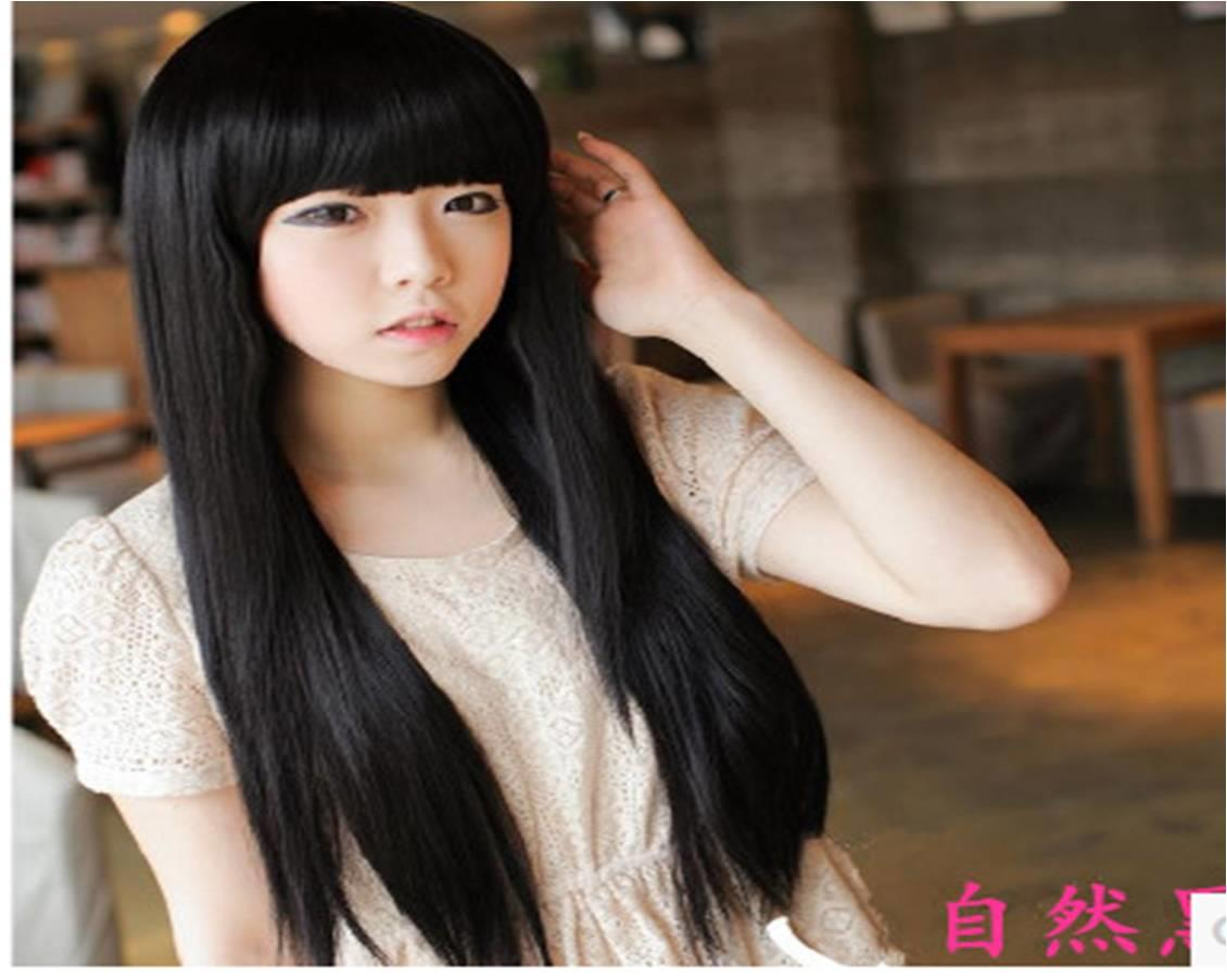 Natural black wig*I2-rambut palsu /promotion deal