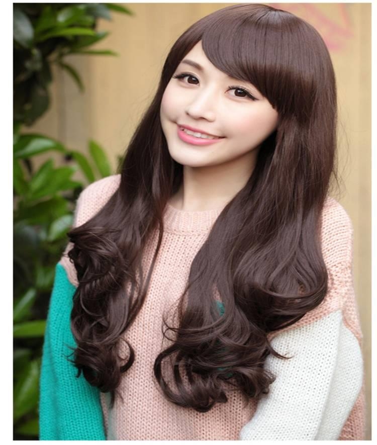 Natural curve hair wig* ready stock 13-rambut palsu