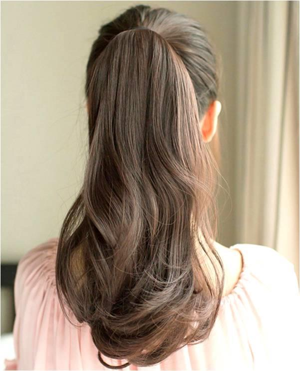 natural curve pony tail 50cm z88/ rambut palsu/ ready stock