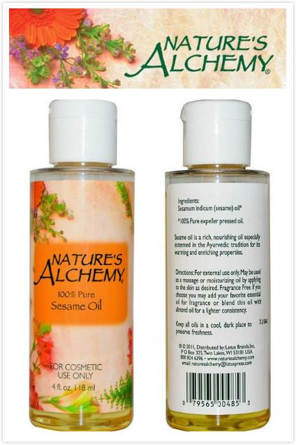 Nature's Alchemy, 100% Sesame Oil, Cosmetic Use (118ml)
