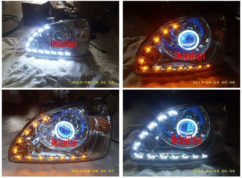 Naza Citra Projector Head Lamp Twin-Colour CCFL 2-Function DRL R8