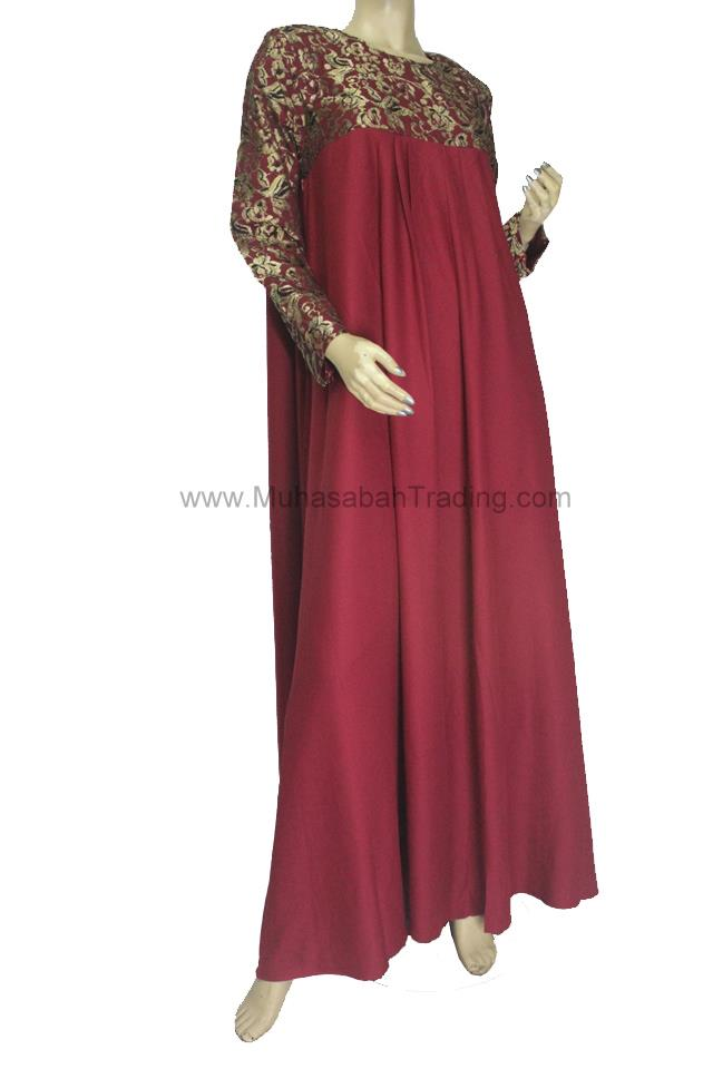 NDAJ001: Nursing friendly abaya jubah dress size 43 XL XXL