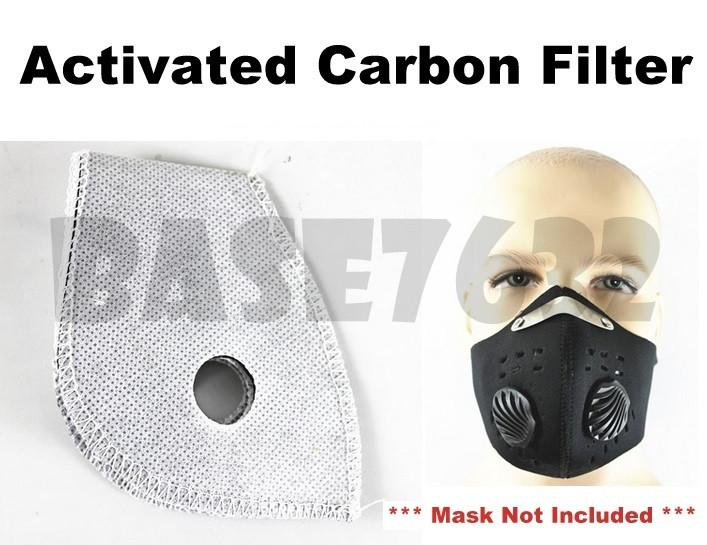 Neoprene  Face Mask Motorcycle Bicycle Activated Active Carbon Filter