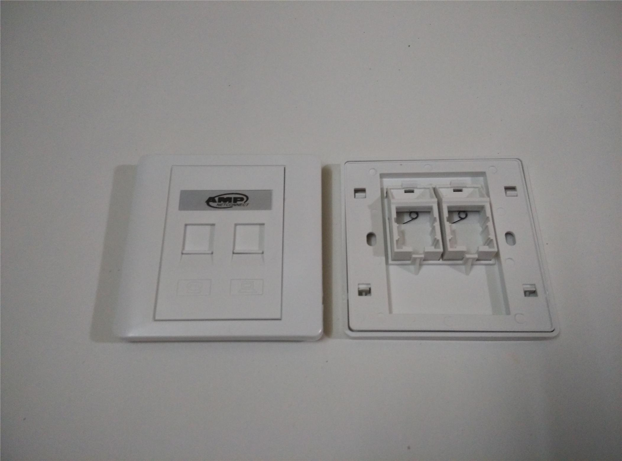 Network cable - 2 gang Flat Type Faceplate