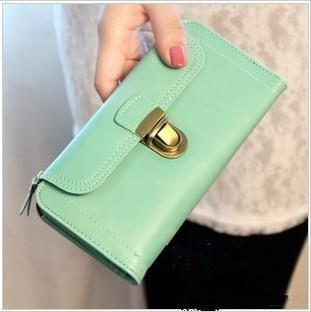 NEWEST KOREAN FASHION COPPER BUCKLE FLIP FOLD LADIES WALLET FOR SALES