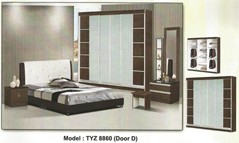 NiceHome furniture special offer 5pcs bedroom set model - 8860