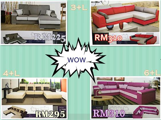 NiceHome LUXURY SET (L-SHAPE SOFA) LOW PRICE INSTALLMENT PLAN