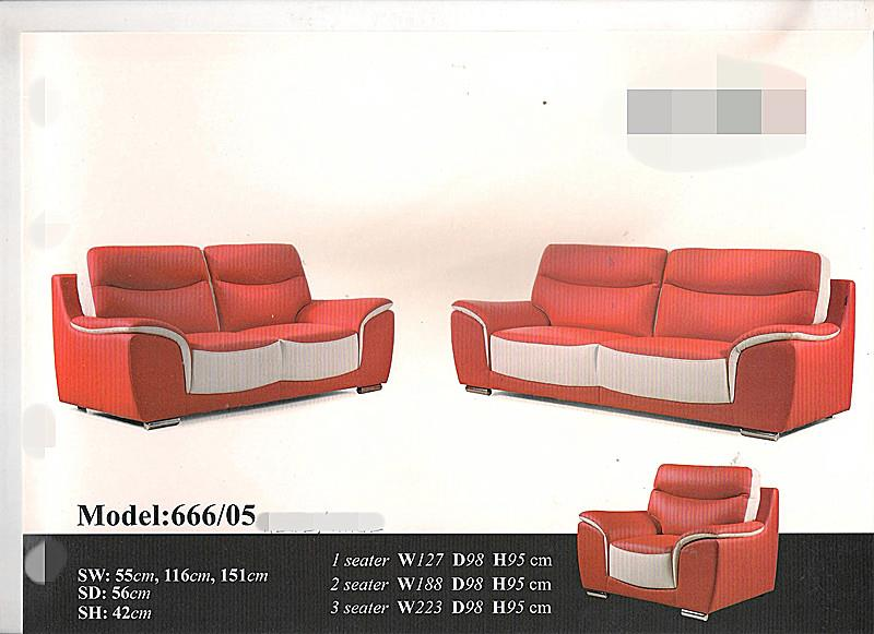 NiceHome Set Preminum 1+2+3 sofa set model - MZ666-05 CASA LEATHER