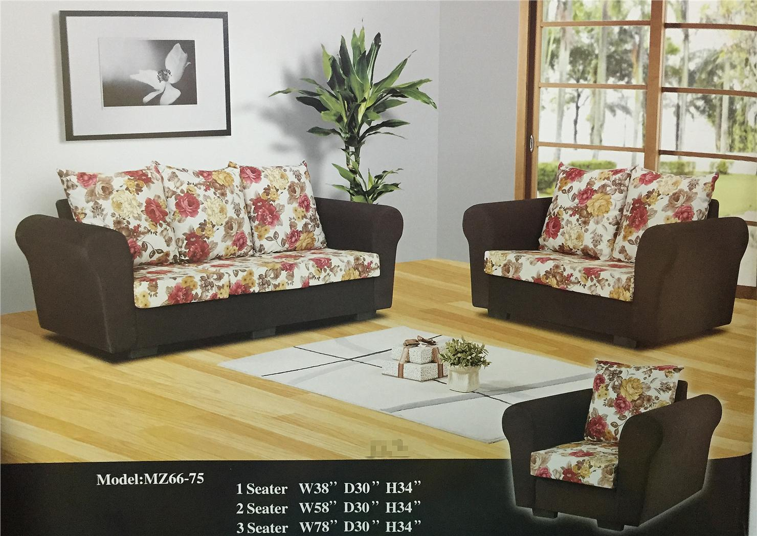 NiceHome Set Promo 1+2+3 sofa set model - 66-75