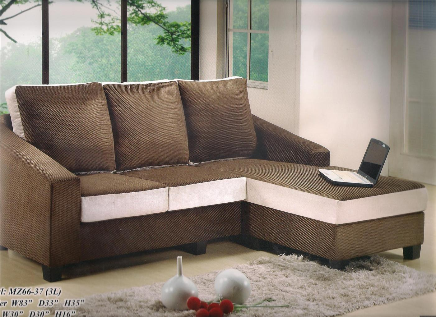 nicehome special offer price sofa L-shape +stool model-MZ6637