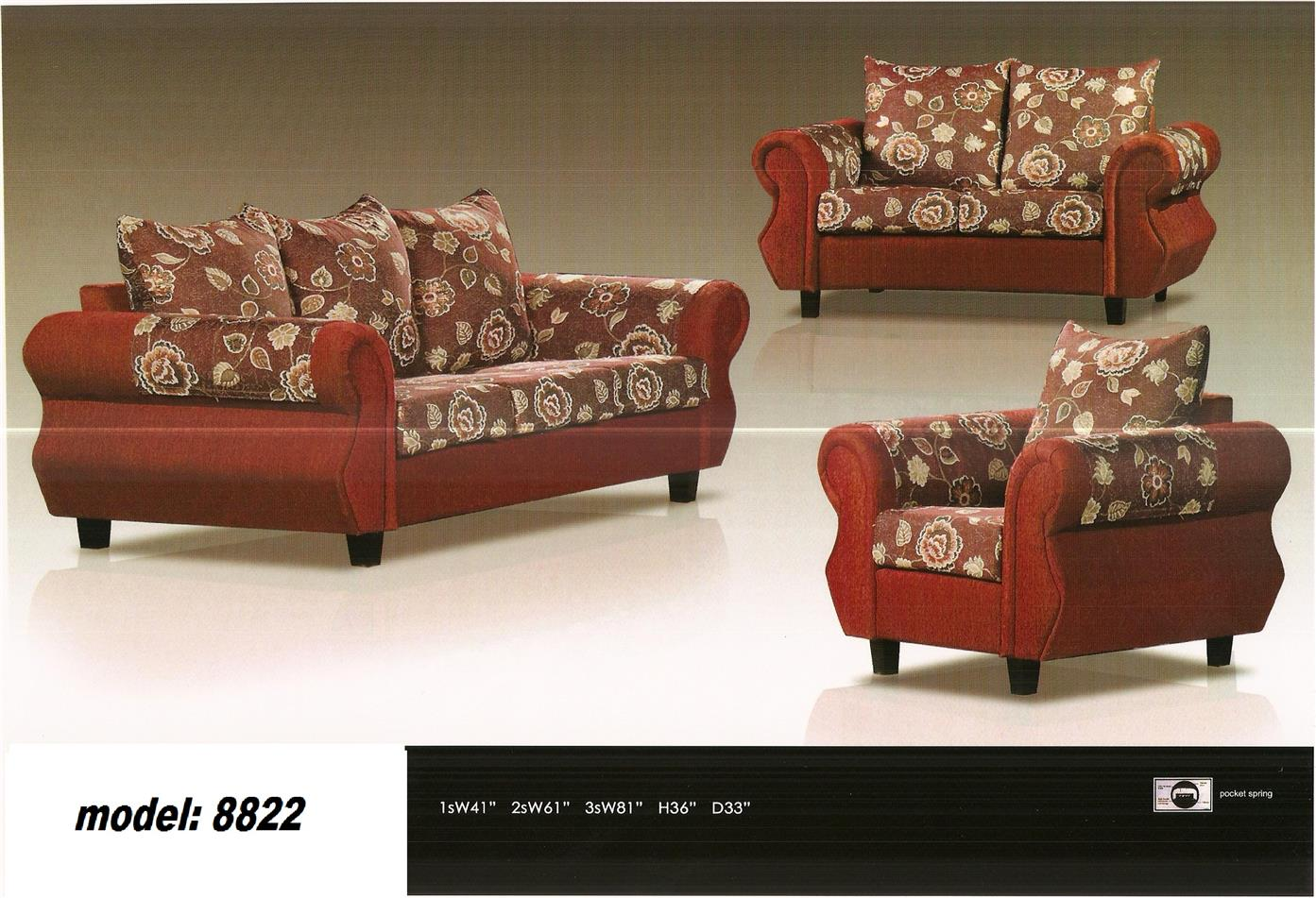 nicehome special offer price sofa1+2+3 model-8822