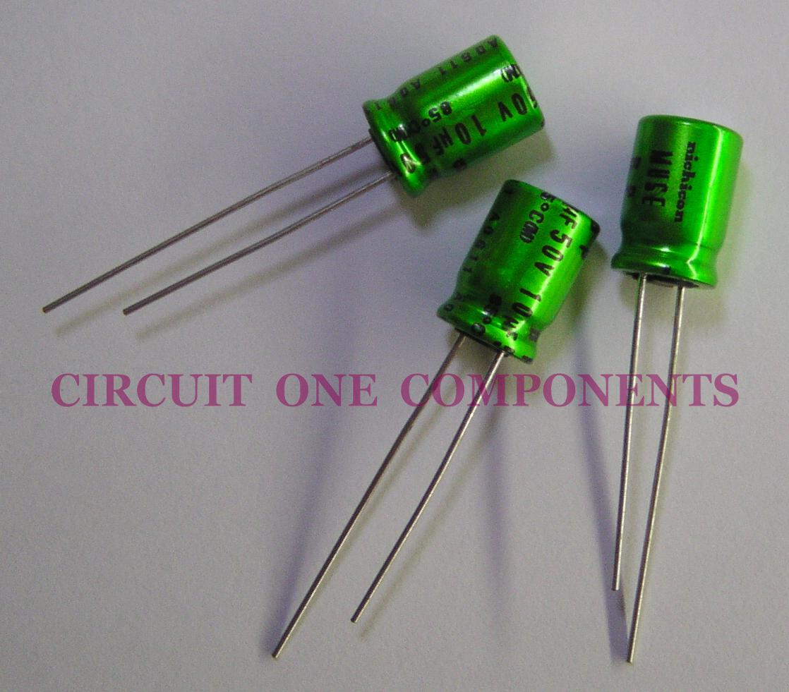 Nichicon Muse 10uF 50v BP Audio Capacitor - Each