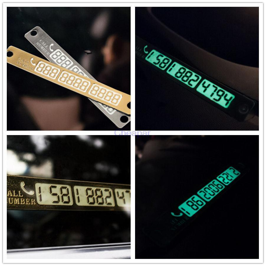 Night Lights Car Parking Notification Phone Number Plate Car