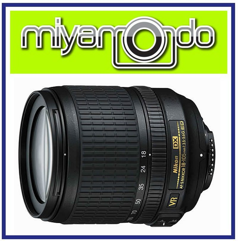 NEW Nikon AF-S DX 18-105mm F3.5-5.6G ED VR Lens