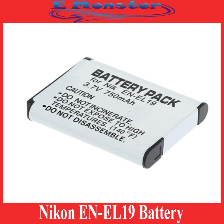 Nikon EN-EL19 ENEL19 Coolpix S4100 S3100 S2500 Battery