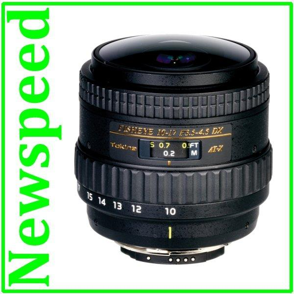 New Nikon Mount Tokina AT-X 107 AF 10-17mm F3.5-4.5 DX NH Fisheye Lens