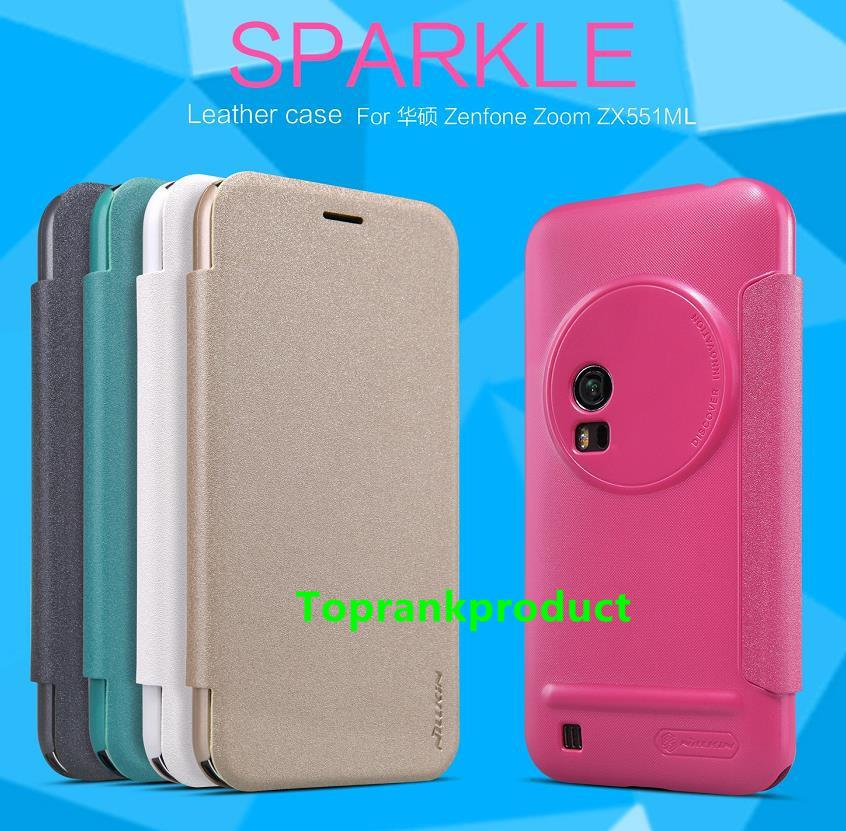 Nillkin Asus Zenfone Zoom ZX551ML Flip Sparkle Case Cover Casing