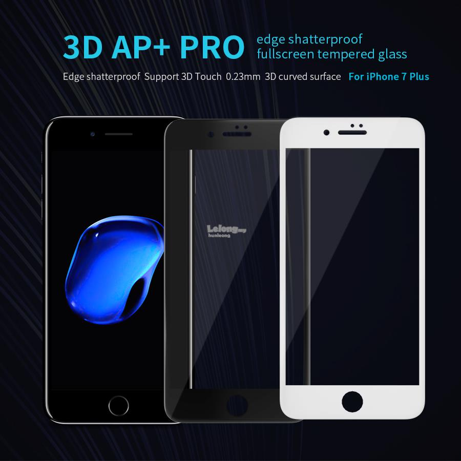 Nillkin iPhone 6 6S 7 Plus 3D AP+PRO Edge Full Screen Tempered Glass