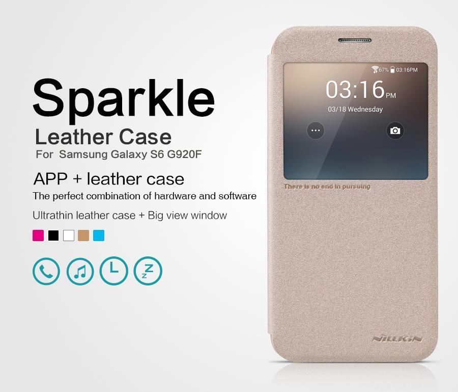Nillkin Sparkle Galaxy A5 A7 E7 J5 J7 S5 S6 Note 5 Leather Case