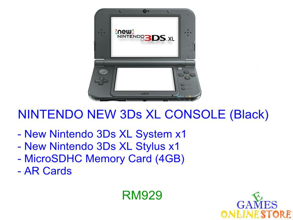 Nintendo New 3Ds XL Console [US/Asia] (Black) ★Brand New & Seale..