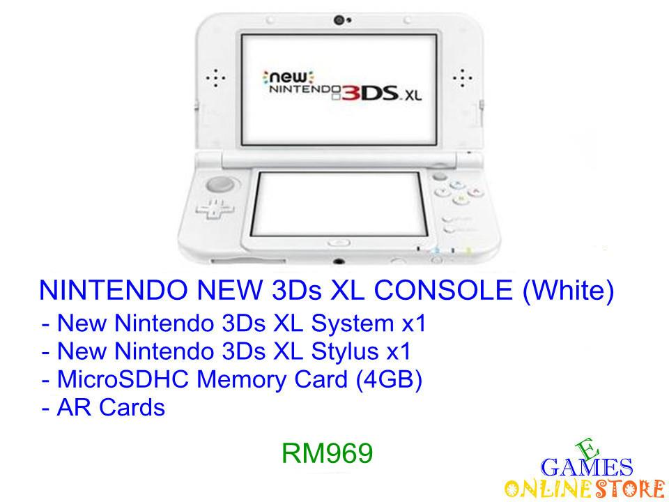 Nintendo New 3Ds XL Console [US/Asia] (White) ★Brand New & Seale..