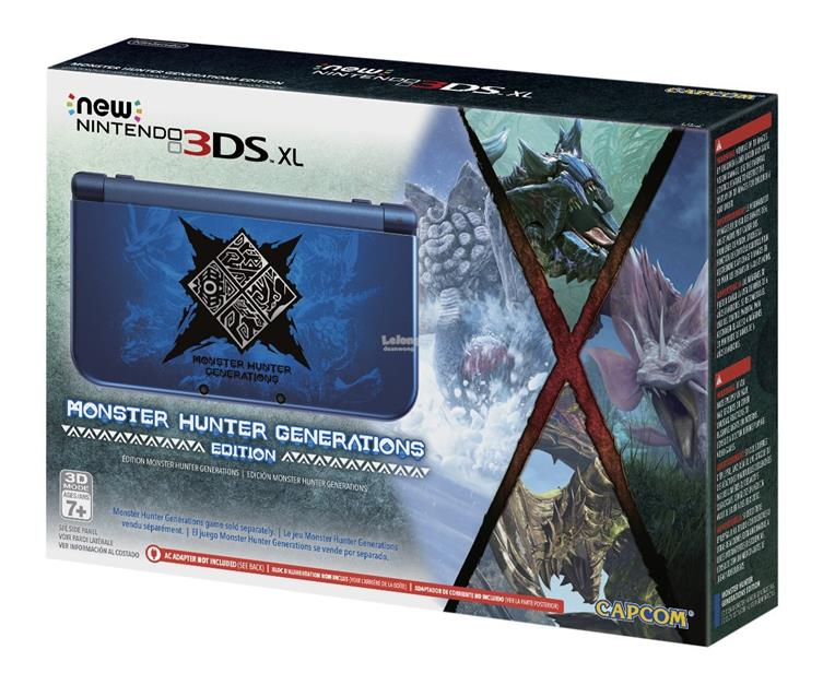 New Nintendo 3DS XL Monster Hunter Generations Edition FW 9.2