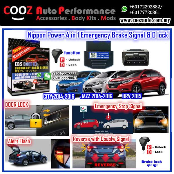 Nippon Power 4 IN 1 OBD D Lock Emergency Brake Signal Honda Hrv 2014