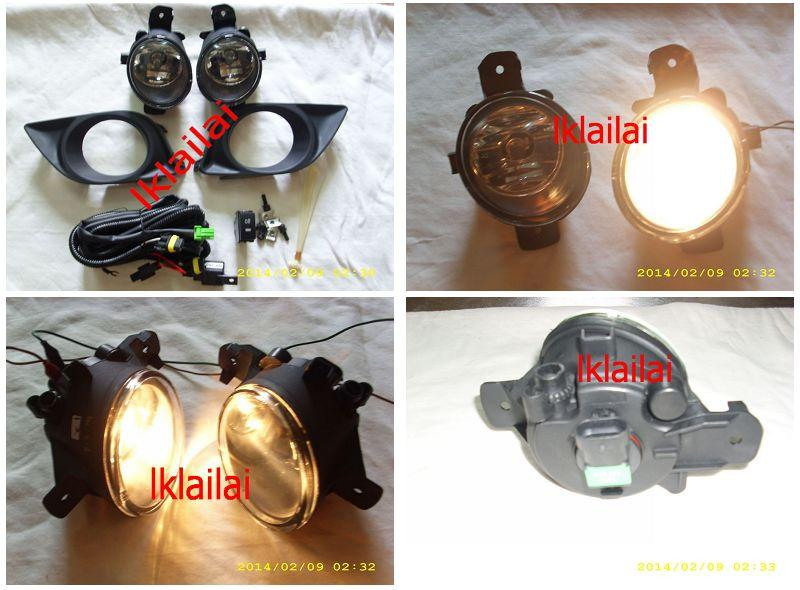 Nissan Almera 12-13 Fog Lamp Crystal W/Wiring + Switch [Glass Lens]