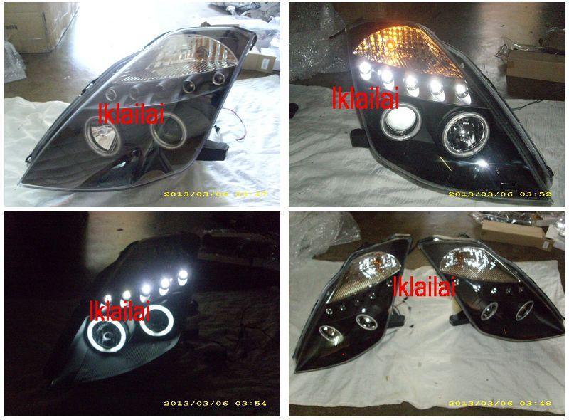 Nissan Fairlady 350Z CCFL RING Projector Head Lamp LED Eye Brown