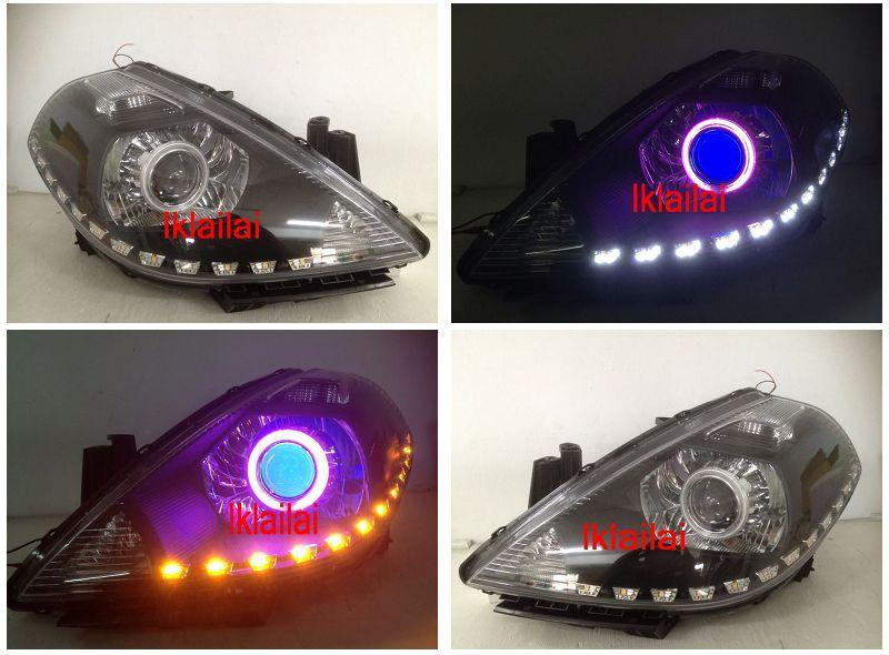 NISSAN LATIO / Tiida Projector Head Lamp Colour CCFL+Angel Eye+DRL R8