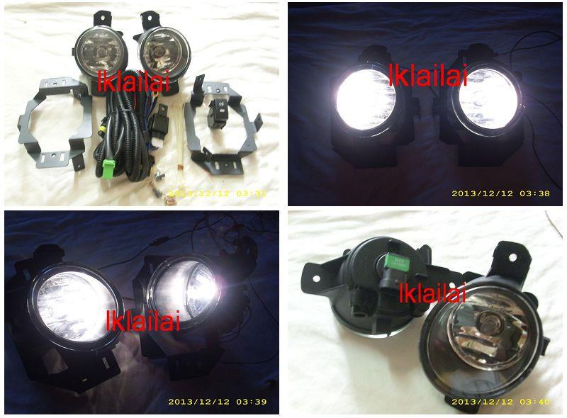Nissan Livina '07 Fog Lamp Crystal W/Wiring + Switch [Glass Lens]