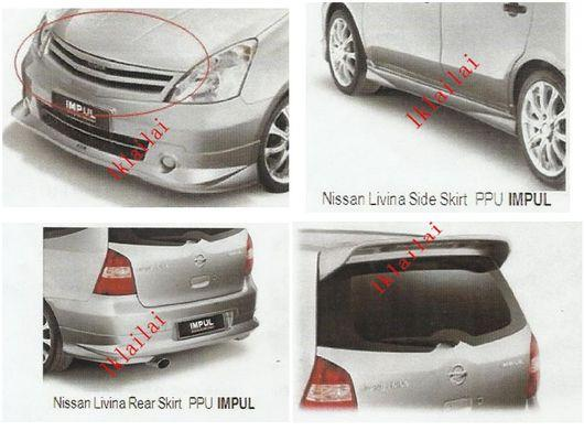 Nissan Livina '11 IMPUL Style PPU Full Set BodyKit + Paint