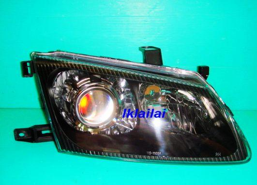 Nissan SENTRA N16 '01 Crystal Projector Black Head Lamp