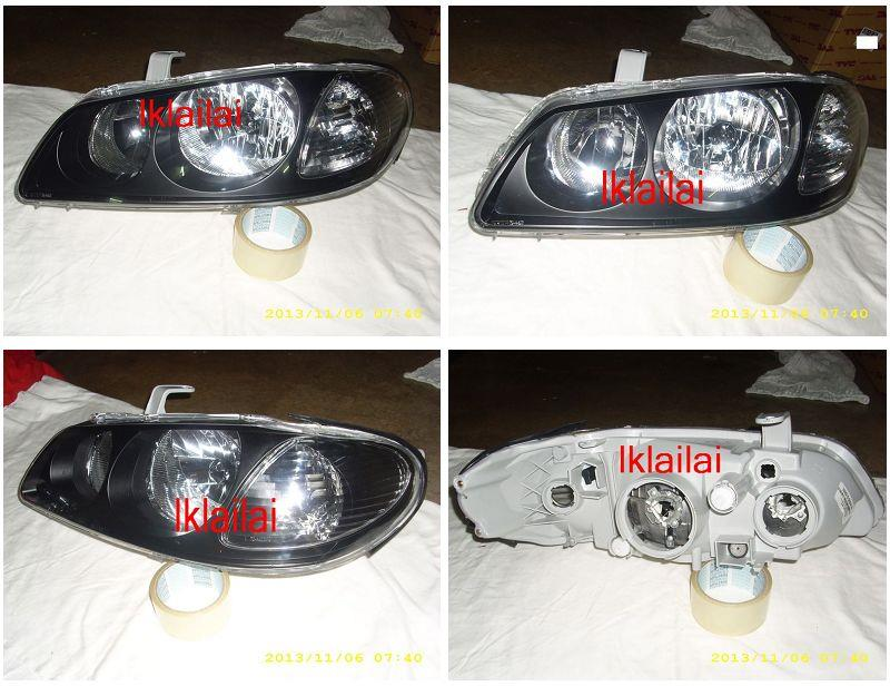 Nissan Sentra N16 '03 Crystal Head Lamp Black