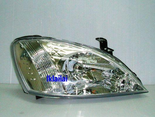 Nissan Sentra N16 `05 Head Lamp Chrome/Black + 2-Function DRL R8