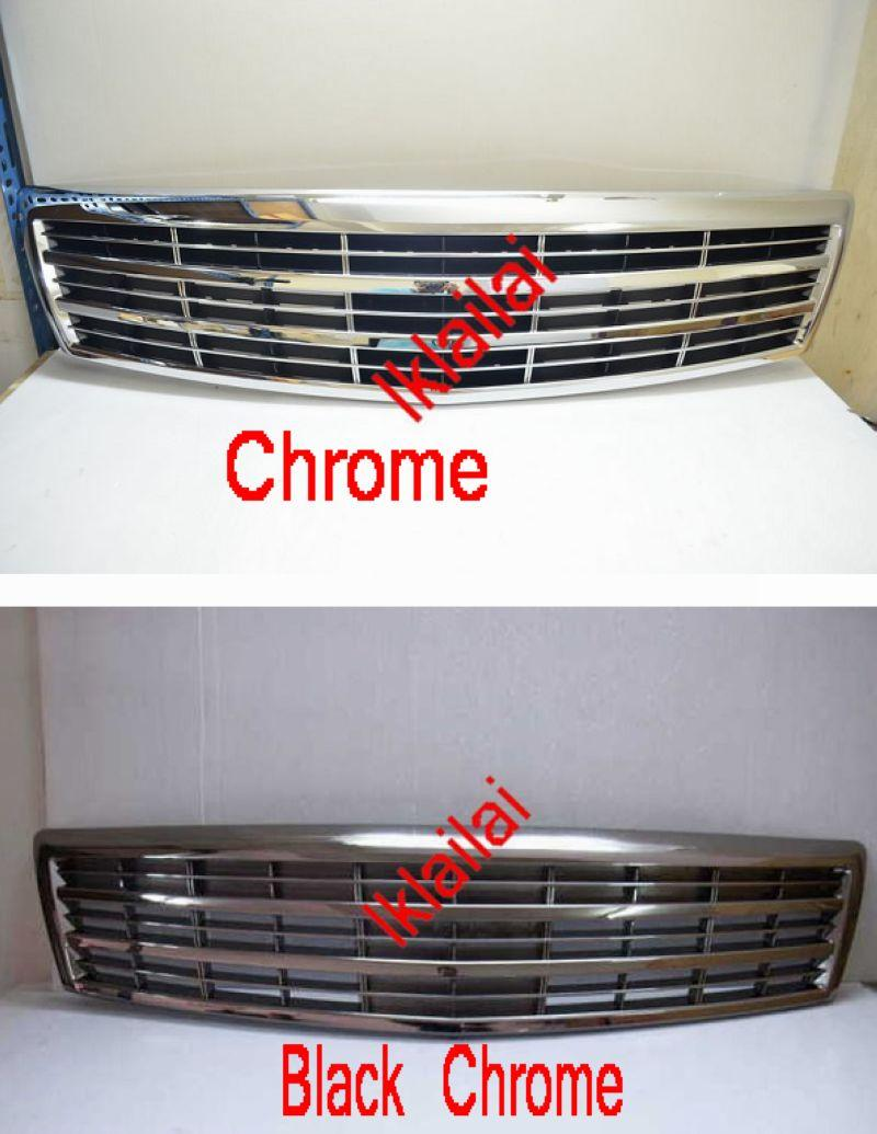 Nissan Teana '05 Front Grille [Axis Style] Chrome / Black Chrome ABS