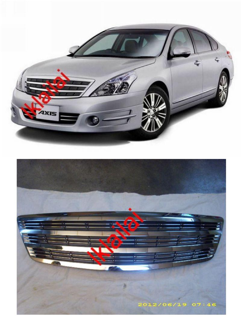 Nissan Teana '09-12 Front Grille [Axis Style] All Chrome ABS Material