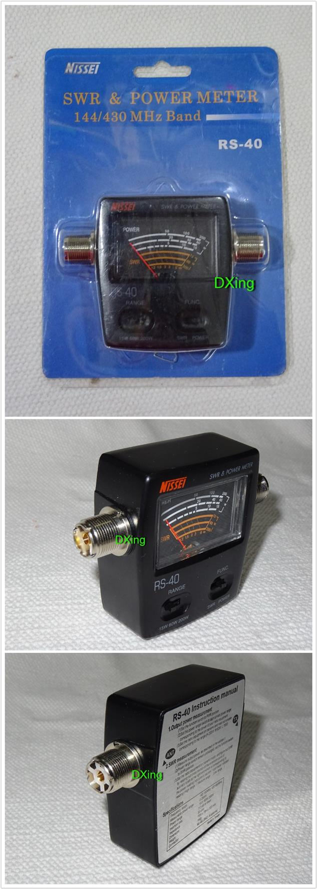 NISSEI RS-40 RS40 Analog SWR/Watt Meter  for # yaesu icom kenwood  #